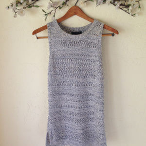 Banana Republic Open Knit Sleeveless Tunic.